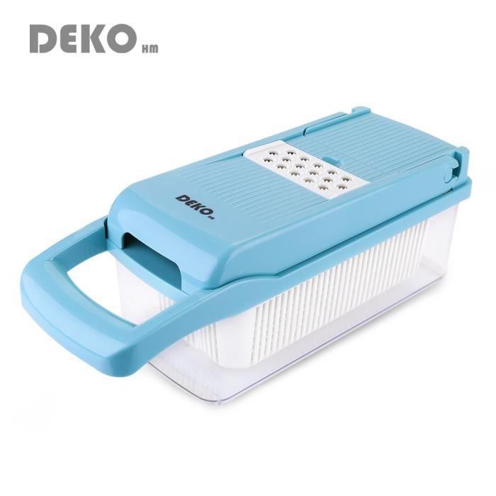 Hachoir manuel,DEKO trancheuse de fruits coupe légumes multifonctionnel pomme de terre éplucheur oeuf blanc filtre - Type Blue
