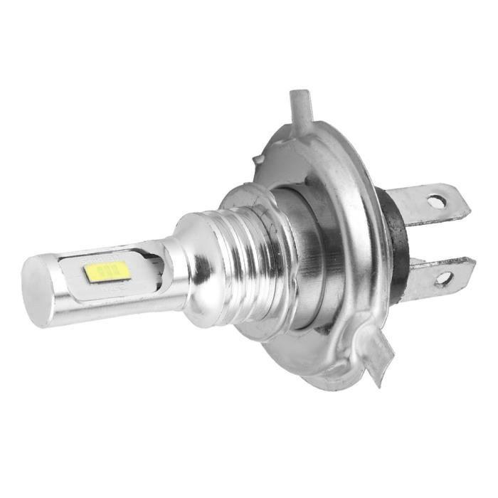 Drfeify Ampoule antibrouillard Puce d'ampoule LED de phare antibrouillard pour voiture de moto avec prise H4 80W DC 12V-24V (blanc