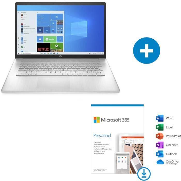 "HP Portable 17-cn0354nf Silver Core i3-1115G4 8GB 512GB PCIe Intel UHD Graphics - UMA 17.3"" HD Flat SVA Win10 440P4EA"
