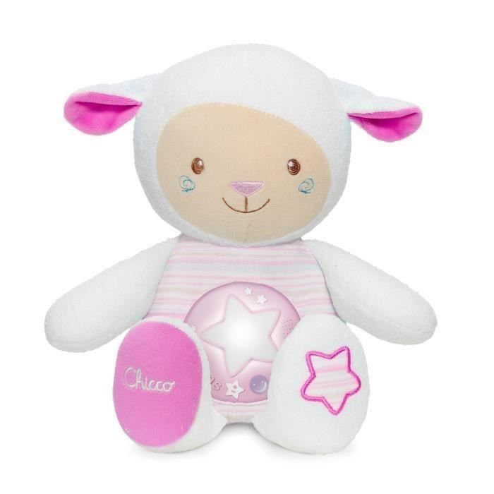 CHICCO Peluche musicale Mouton Tendres mots doux - Rose