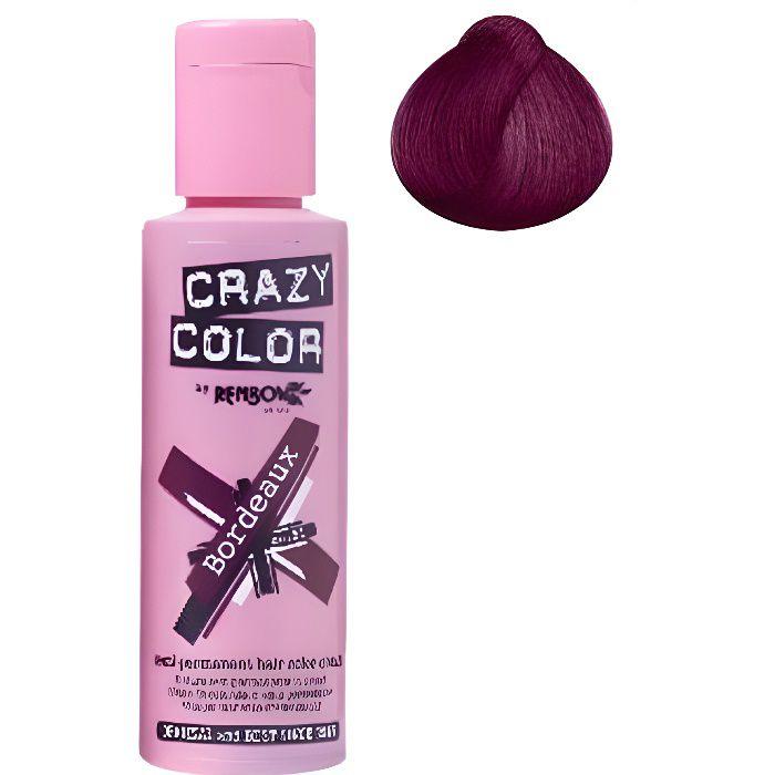 Coloration cheveux semi-permanente CRAZY COLORBORDEAUXPour un look FUN et des cheveux aux couleurs vives et originales !Les
