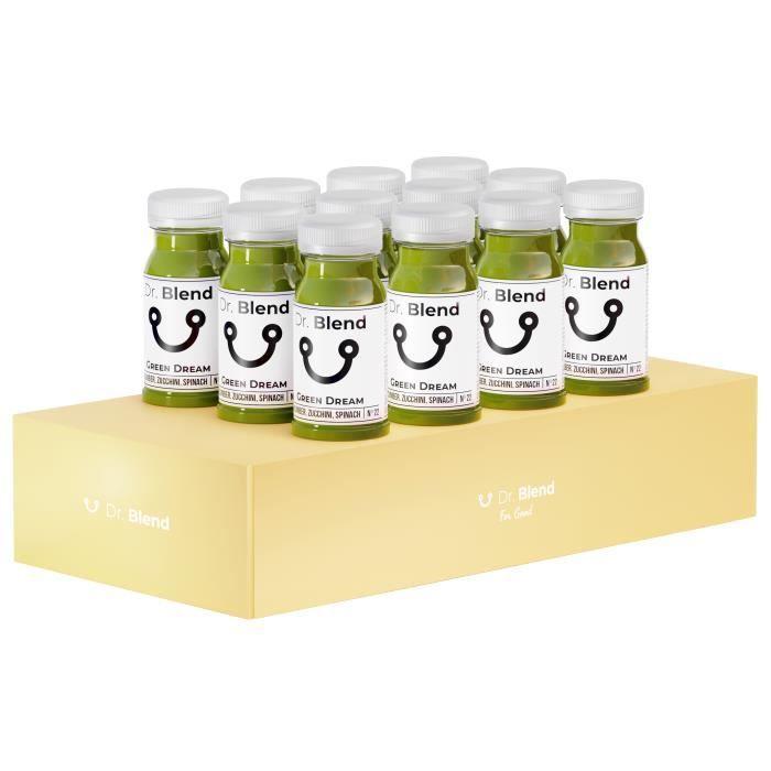 Dr. Blend – Greendream N°22 - Pur Jus - Concombre Courgette Epinards - 12x125ml