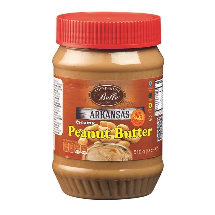 MISSISSIPI BELLE Beurre de Cacahuètes Creamy - 510 g