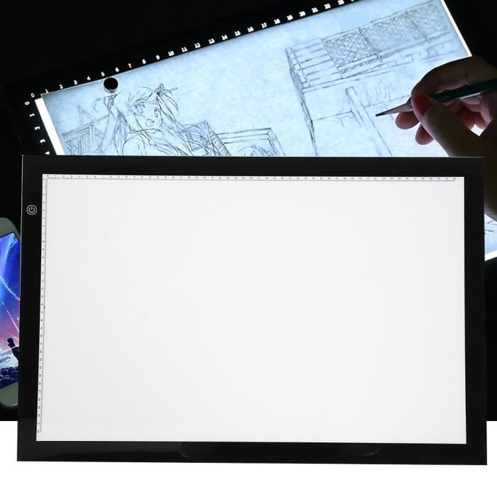 Tablette Lumineuse A2 LED Luminosité Réglable LED Light Pad, Lumière de Traçage de Copie de Dessin de A2 FR STOCK