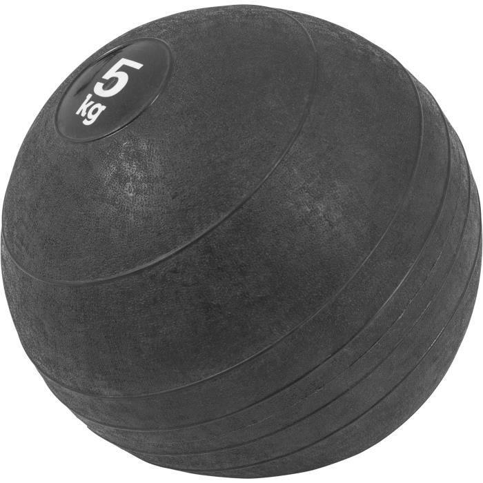 Gorilla Sports - Slam Ball Caoutchouc de 3kg à 20Kg - 5 KG
