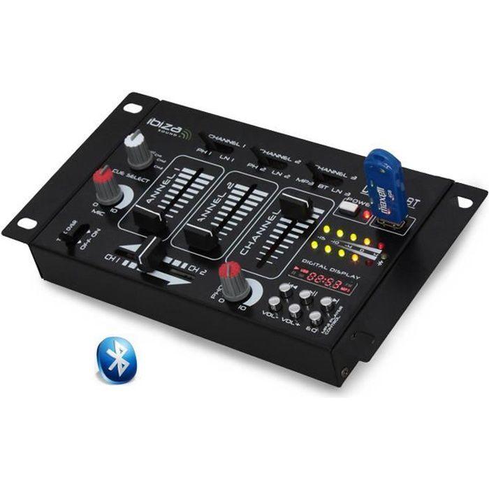 Table de mix 7 entrées DJ21USB-MK2- BLUETOOTH