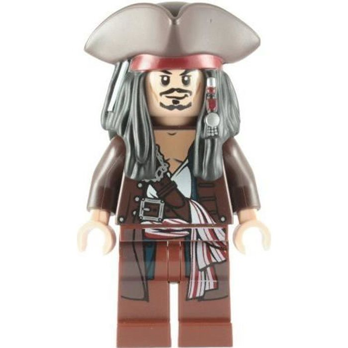 LEGO Pirates Des Caraibes: Capitaine Jack Sparrow Avec Tricorne Mini-Figurine