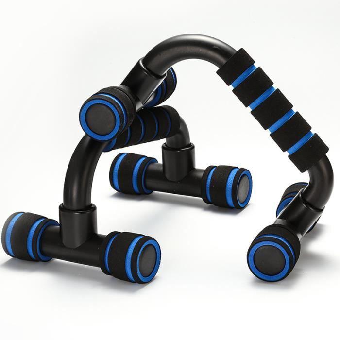 Poignées d'appui pour Pompe-Push-Up Bars Dispositif pour Musculation - Assistance push-up fitness - Bleu noir