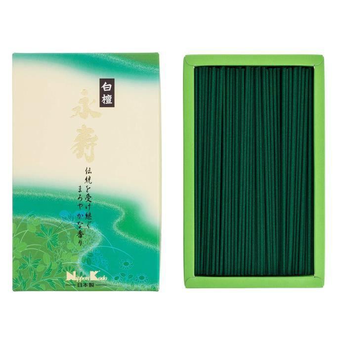 Nippon Kodo 22062 Eiju Santal Blanc, Encens, Vert, 17 x 10 x 4 cm