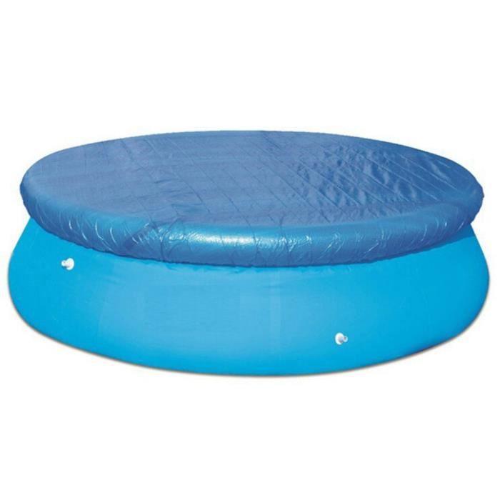 Tapis de sol rond pour piscine Grande protection solaire et facile à nettoyer - blue