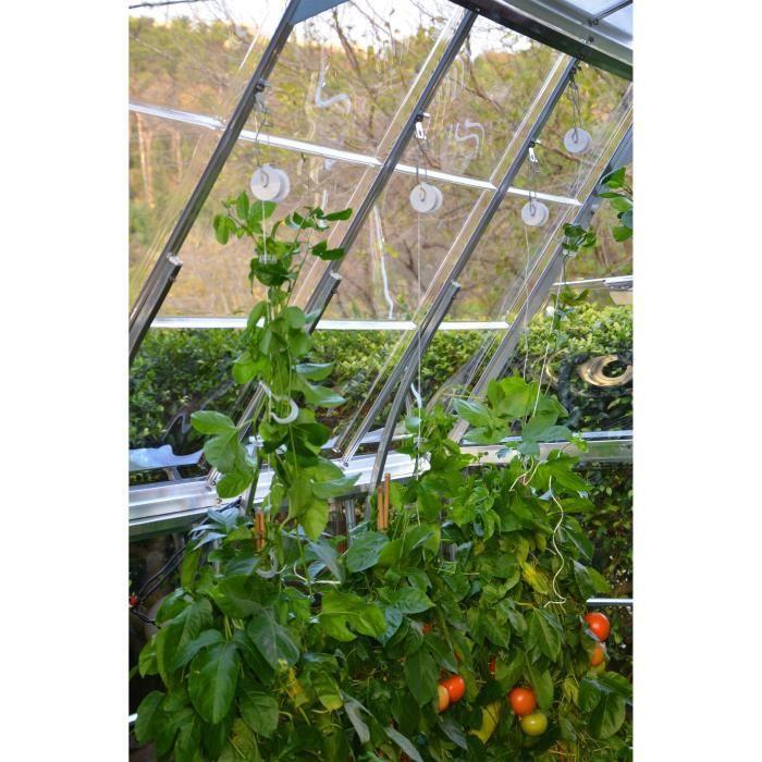 PALRAM Kit de palissage 6 crochets et 25 m de fil pour serres de jardin