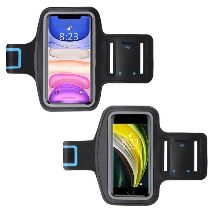 2 pièces bras téléphone sacs Durable Portable épaissir supports de brassard poches pour jogging course PORTE-CARTES - POCHETTE