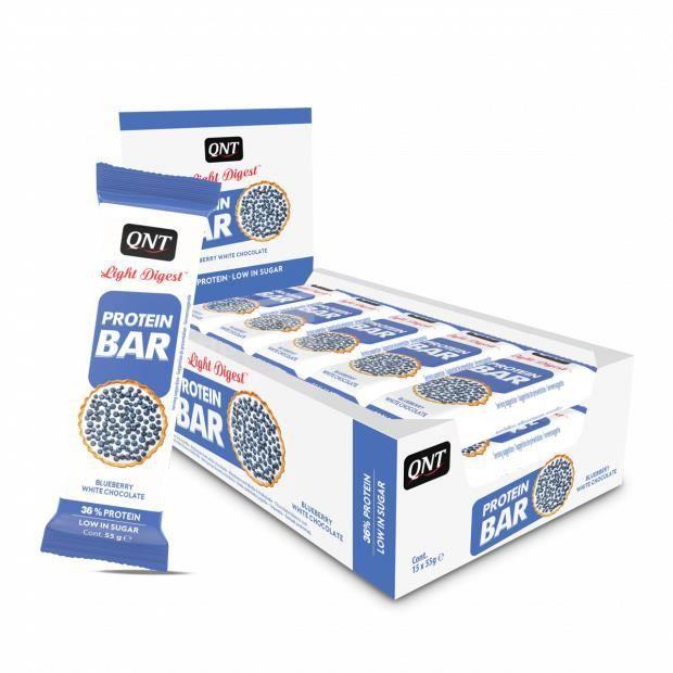 Barres Protéinées Myrtille Chocolat Blanc 15 x 55 g