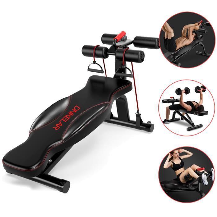 SINBIDE® Banc d'entraînement fitness, Banc de musculation pliable abdominaux et dorsaux, Réglable Pliable