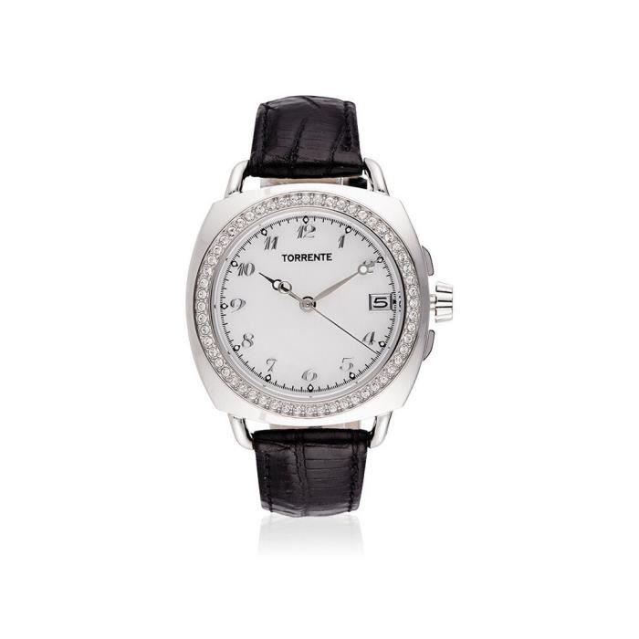 Torrente - Montre Femme -DANDY- Bracelet cuir - TT545A0C3BC1 0,000000 Blanc