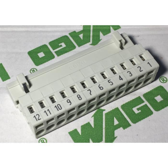 connecteur industriel wago 721-612-000-043 connecteur mâle - 12 pôles - 100% protégé contre le mismating - 2,5mm² pas: 5mm
