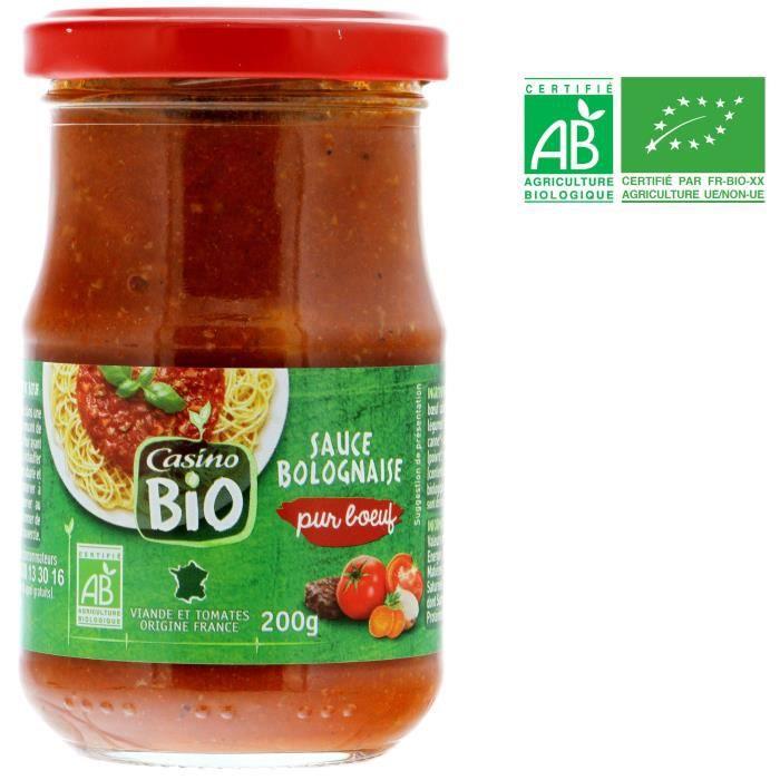 Sauce bolognaise pure bœuf bio - 200 g