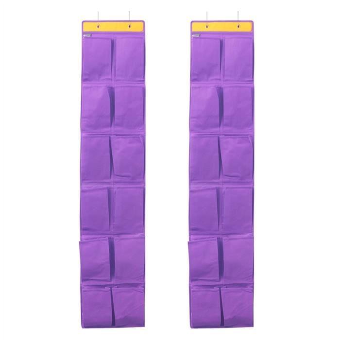 ACCROCHE-SAC 2pcs 12 poches non-tissé sur portes suspendues Sac