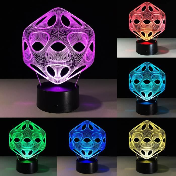 LAMPE A POSER Objet lumineux d interieur-Illusion 3D Visual Nigh