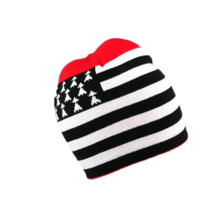 Bonnet Breton Rouge, Blanc et Noir représentant le GWEN HA