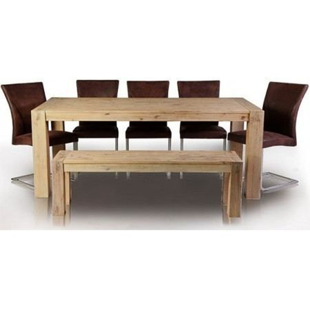 Table manger en bois empire ii blanchis 200cm achat - Model de table a manger en bois ...