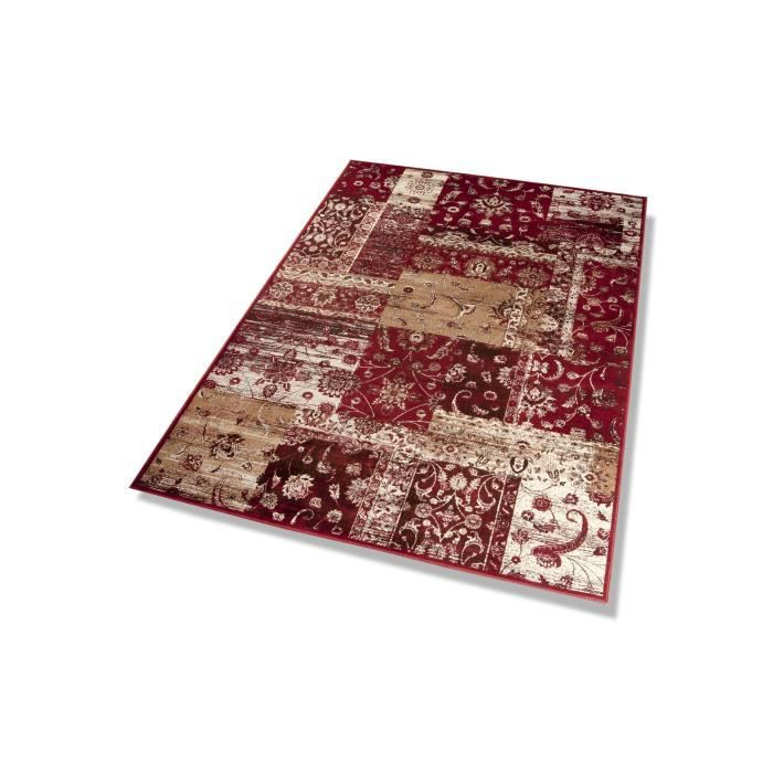 dekowe tapis vintage rouge 140x200 cm achat vente tapis cdiscount. Black Bedroom Furniture Sets. Home Design Ideas
