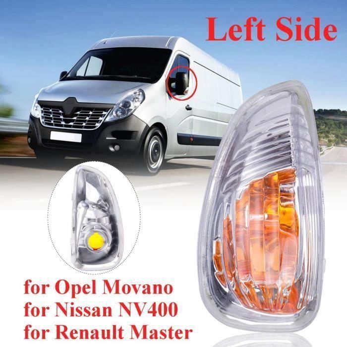 Feu de clignotant rétroviseur avant gauche Nissan NV400 Opel Movano Renault Mast