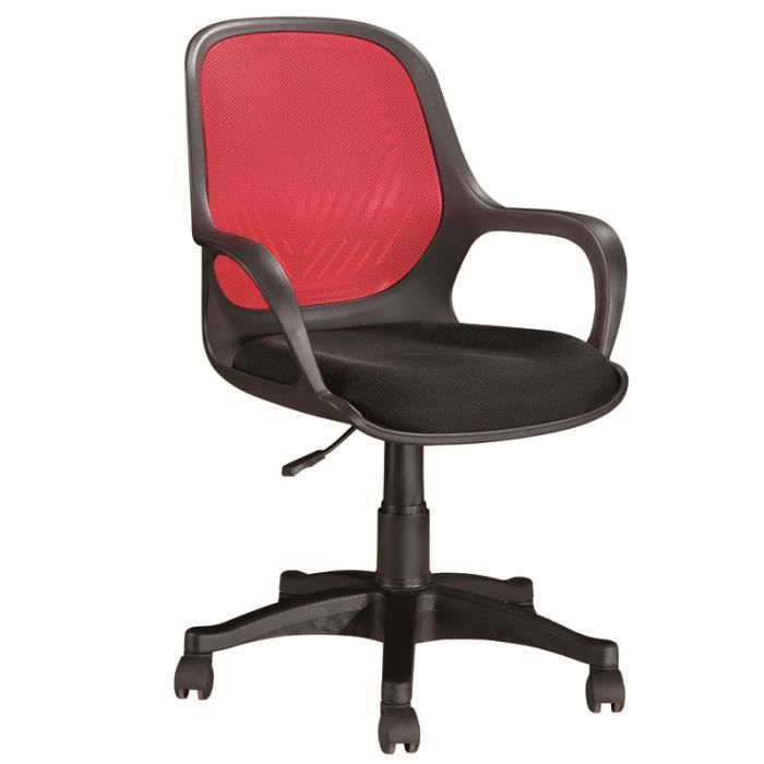 chaise de bureau rouge 5 roulettes dimensions achat vente chaise de bureau rouge cdiscount. Black Bedroom Furniture Sets. Home Design Ideas