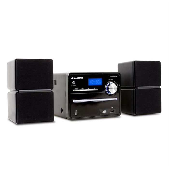 ah 2336 mini cha ne hifi mp3 usb 2 x aux chaine hi fi. Black Bedroom Furniture Sets. Home Design Ideas
