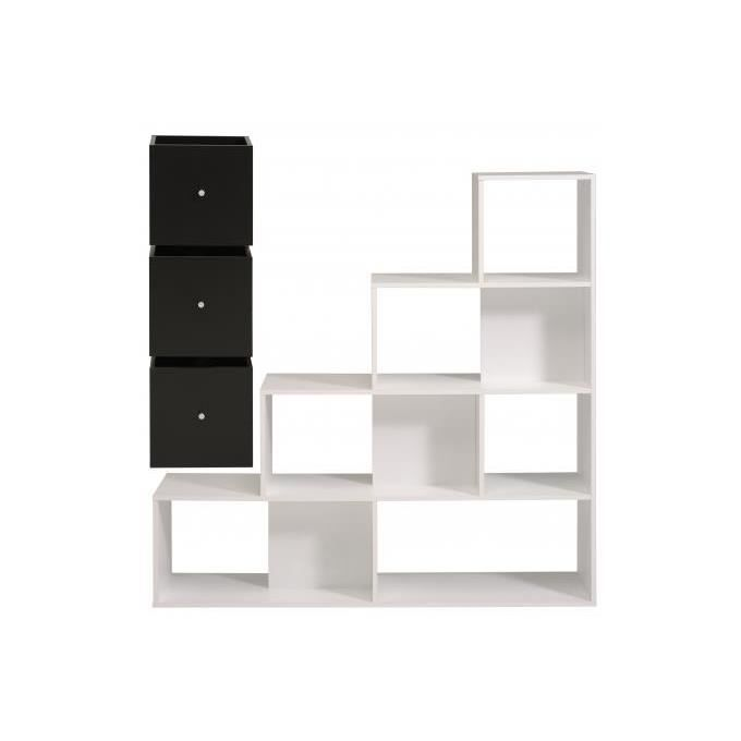 etag re de rangement en cube blanc et noir escalier achat vente etag re murale etag re de. Black Bedroom Furniture Sets. Home Design Ideas