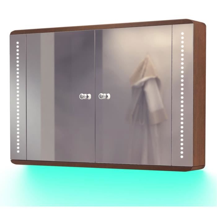 armoire toilette ch ne clairage bluetooth anti bu e capteur rasoir k83taud turquoise. Black Bedroom Furniture Sets. Home Design Ideas