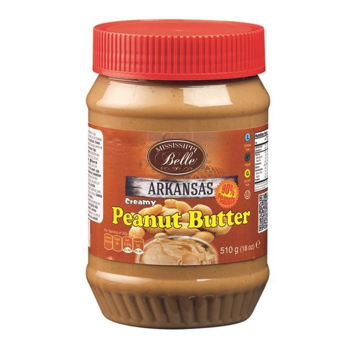 PÂTE À TARTINER MISSISSIPI BELLE Beurre de Cacahuètes Creamy - 510