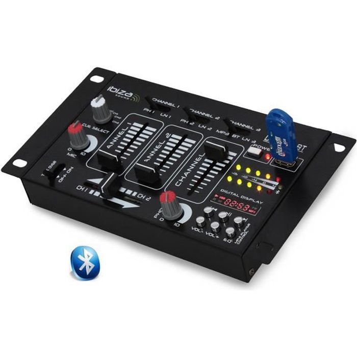 table de mix 7 entr es dj21usb mk2 bluetooth table de mixage avis et prix pas cher cdiscount. Black Bedroom Furniture Sets. Home Design Ideas