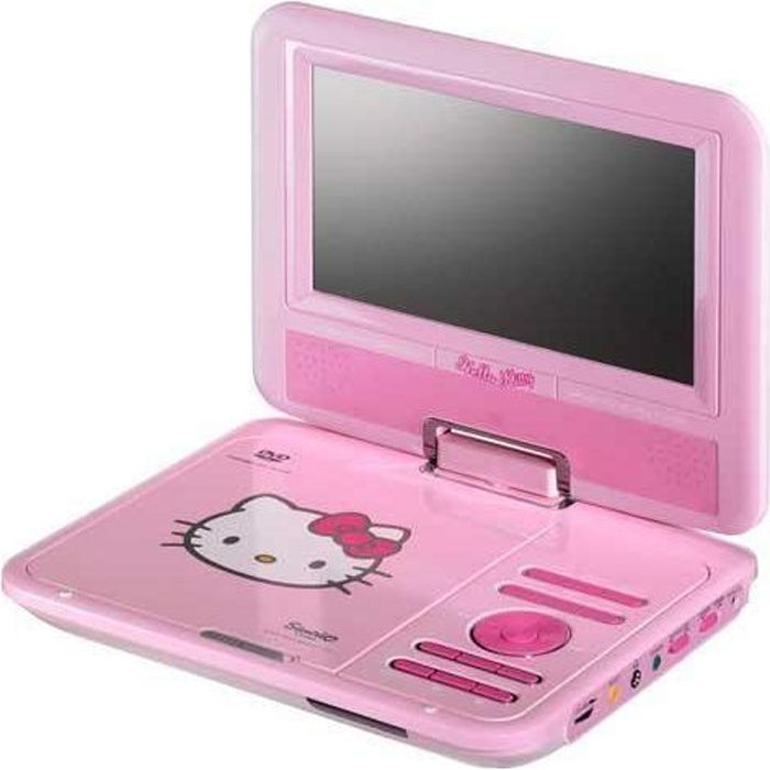 lecteur dvd portable hello kitty achat vente radio cd enfant cdiscount. Black Bedroom Furniture Sets. Home Design Ideas
