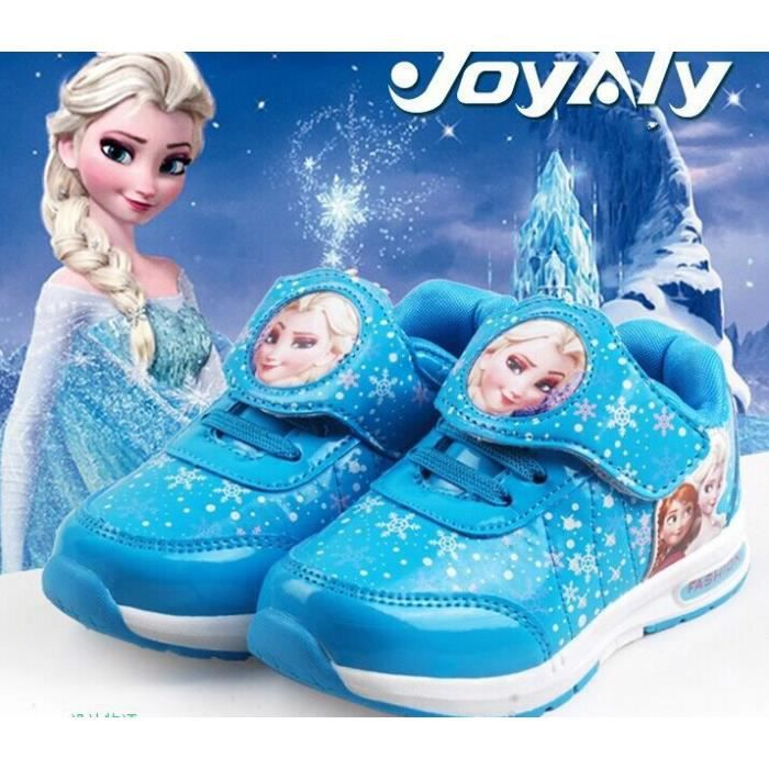 la reine des neiges enfants chaussures de sports baskets couleur bleu taille asiatique bleu bleu. Black Bedroom Furniture Sets. Home Design Ideas