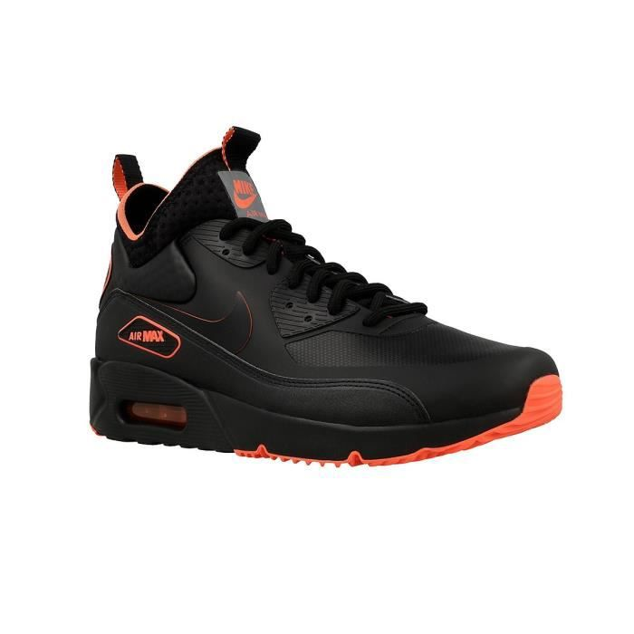 75f6fcb01f4 Basket Nike Air Max 90 Ultra Mid Winter SE - AA4423-001 Noir Noir ...