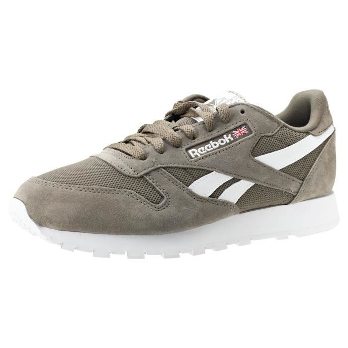 b35b174ade81d Reebok Classic Leather Mu Hommes Baskets gris Blanc - 9 UK Gris Gris ...