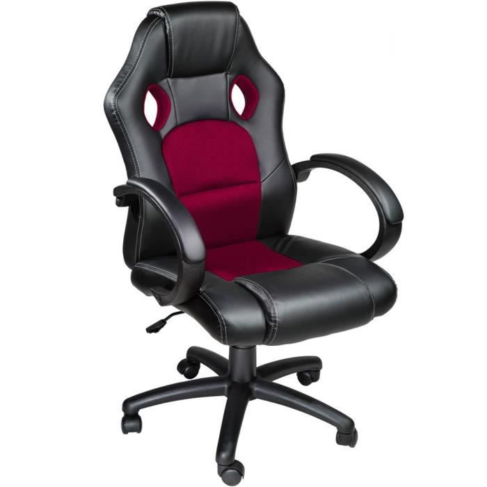 17 gamer desk chair chaise de bureau fauteuil racing sport noir tenes la marca del gamer. Black Bedroom Furniture Sets. Home Design Ideas