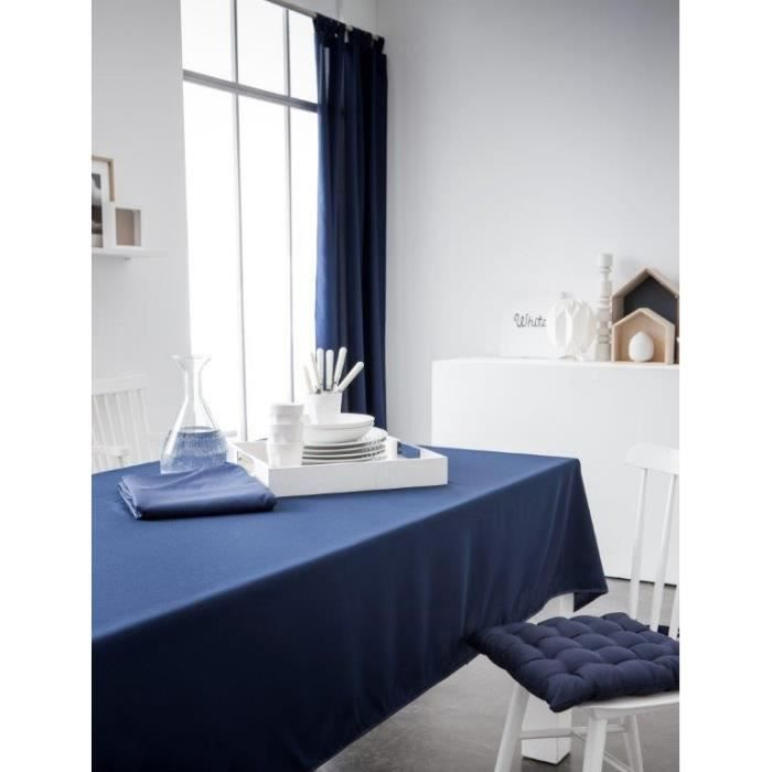 nappe bleu marine achat vente nappe bleu marine pas cher cdiscount. Black Bedroom Furniture Sets. Home Design Ideas