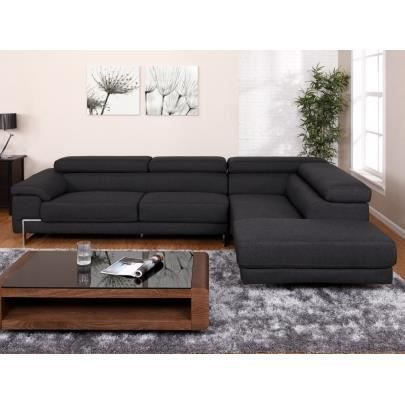 canap d 39 angle en tissu bertoni anthracite ang achat vente canap sofa divan cdiscount. Black Bedroom Furniture Sets. Home Design Ideas