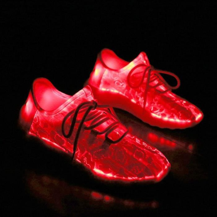 Fashion 8 Colors Led Shoes pour femme Luminous Casual Shoes Light Up Shoes