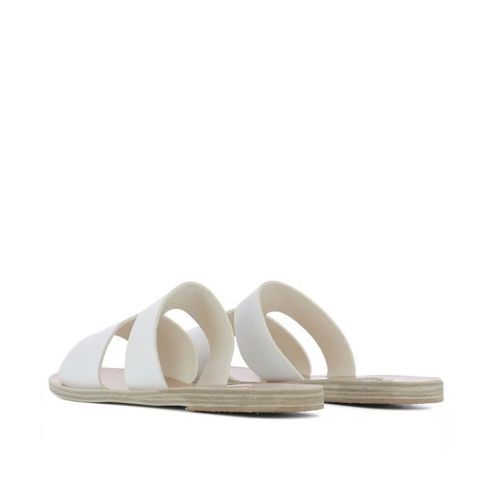 ANCIENT GREEK SANDALS FEMME APTEROSWHITE BLANC CUIR SANDALES