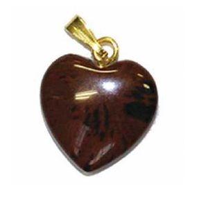PENDENTIF VENDU SEUL Pendentif Coeur Obsidienne Brune