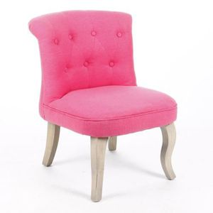 Fauteuil crapaud calixte lin rose achat vente fauteuil soldes d hi - Fauteuil crapaud en solde ...