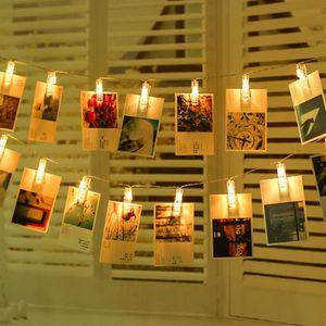 GUIRLANDE LUMINEUSE INT Guirlande lumineuse LED à piles 20 photos clips -