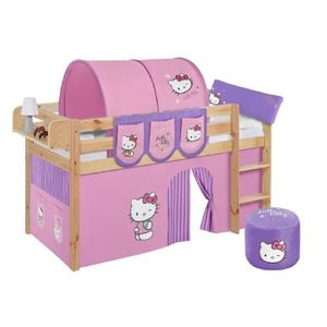 LIT COMBINE  Lit surélevé ludique JELLE Hello Kitty lilas - ave