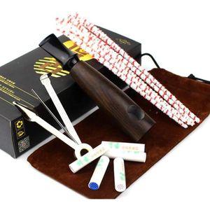 IRVING Pipe /à Tabac /à Fumer en Bois Massif Faite /à la Main avec Accessoires