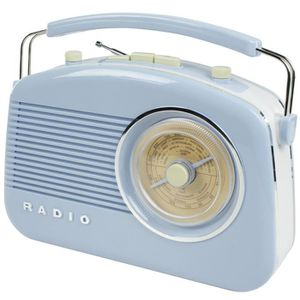 RADIO CD CASSETTE König HAV-TR710BU Retro-Design AM-FM-Radio blau