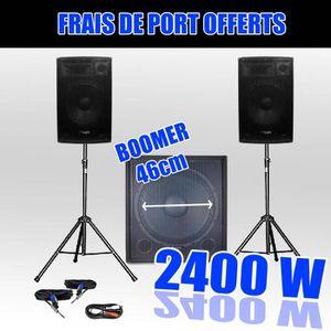 PACK SONO Pack 1815 Sonorisation 2400W Caisson bi-amplifié
