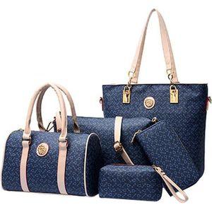 SAC À MAIN 5 Ensembles dames sac à main femmes épaule fourre-